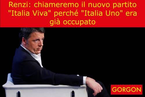 La satira del giorno: il nuovo partito di Renzi