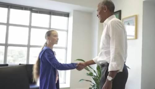 """Obama """"battezza"""" Greta Thunberg in nome dell'ecologismo"""