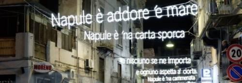 """""""Napule è"""", la luminaria di 120 metri dedicata a Pino Daniele"""