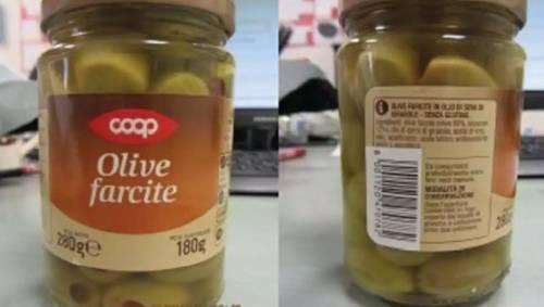 Presenza di solfiti non dichiarati: Coop ritira lotto di olive farcite