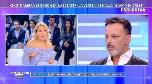 """Kikò Nalli non approva la scelta di Ambra: """"Il seno rifatto? A me piacciono le cose naturali"""""""