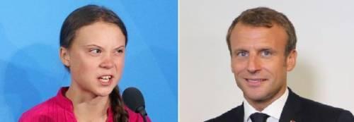 """E adesso anche Macron attacca Greta: """"Sei troppo radicale..."""""""