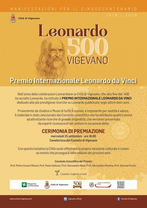 Assegnati a Vigevano i Leonardo Award per gli studi sulle opere del Genio rinascimentale