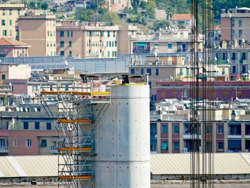 Ponte di Genova, sorgono le nuove pile 5 e 6 3