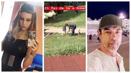Alessandro Gassmann e Nicoletta Romanoff contro il degrado di Roma