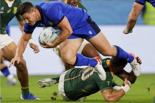 Mondiali di rugby, l'Italia cade 49-3 contro il Sudafrica: azzurri quasi fuori