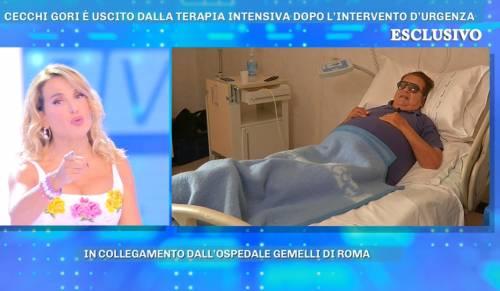 """Domenica live, la d'Urso a Cecchi Gori operato d'urgenza: """"Volevi curarti da solo"""""""
