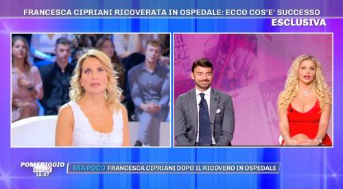 """Francesca Cipriani: """"Sono stata male, ho visto la morte in faccia"""""""