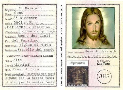 Radio Maria posta la carta d'identità di Gesù Cristo