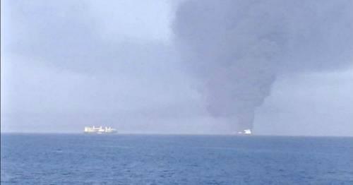 """Esplosione su una petroliera. L'Iran: """"Attentato terroristico"""""""