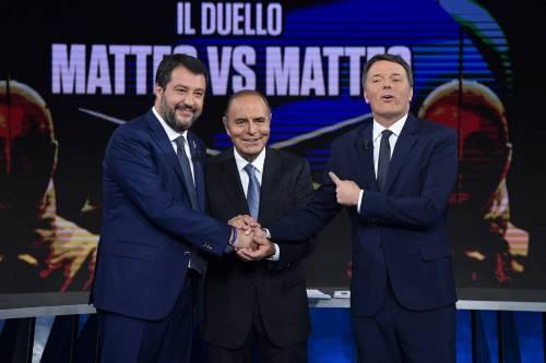 Duello Renzi-Salvini da record: fa più share della Nazionale