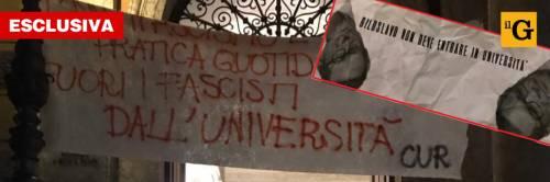 """Biloslavo fuori dall'Ateneo: """"Via i fasci dall'università"""""""