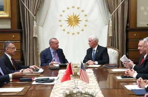 """Accordo tra Stati Uniti e Turchia: """"Cessate il fuoco in Siria"""""""