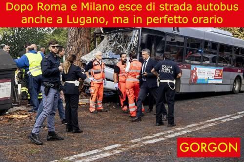 La satira del giorno: bus esce di strada a Lugano