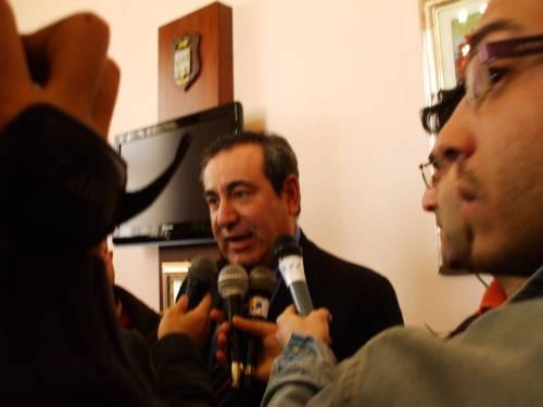 Joseph Mifsud nel giorno della presentazione all'Università di Agrigento