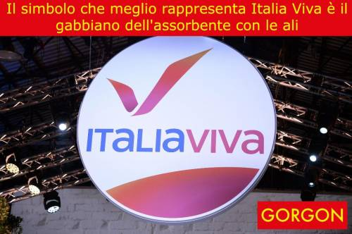 La satira del giorno: il simbolo di Italia viva