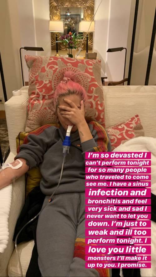 Lady Gaga colpita da un'infezione: annullato il concerto di Las Vegas