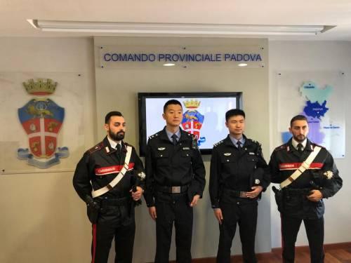 Agenti cinesi in servizio coi carabinieri di Padova