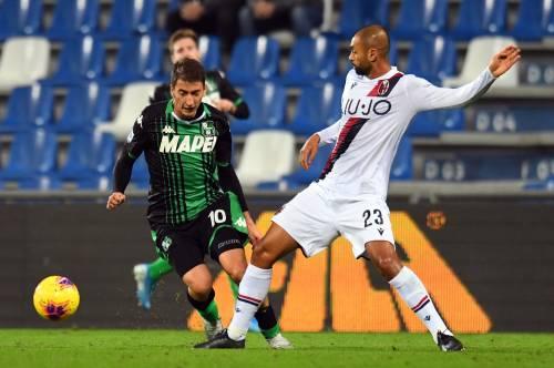Il Sassuolo vince il derby contro il Bologna: 3-1 e sorpasso in classifica
