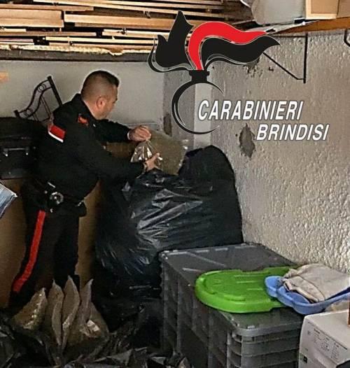 Brindisi, i carabinieri scovano il nascondiglio della droga 4