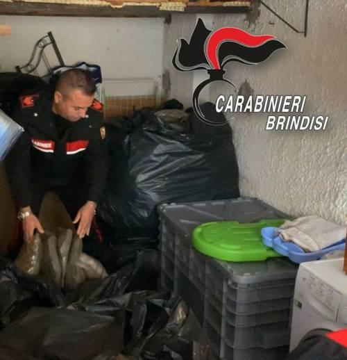 Brindisi, nascondeva oltre un quintale di droga: arrestato