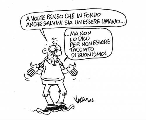 Vignette, fantocci, murales. Ecco l'odio verso Salvini 1