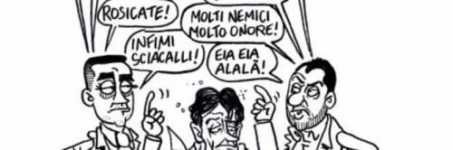 Vignette, fantocci, murales. Ecco l'odio verso Salvini 7