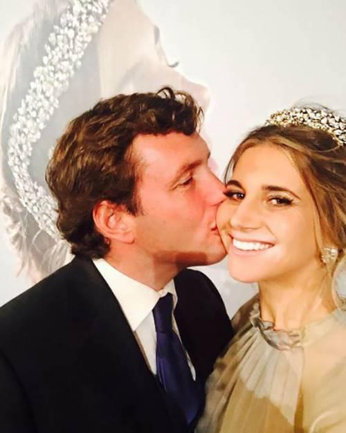 Nicoletta Romanoff sposa Federico Alverà