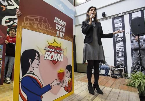 La propaganda della Raggi tra i bimbi: il fumetto sulla sindaca eroina fa discutere