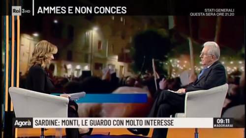 """Anche Monti sta con le sardine: """"In piazza con loro? Perché no"""""""
