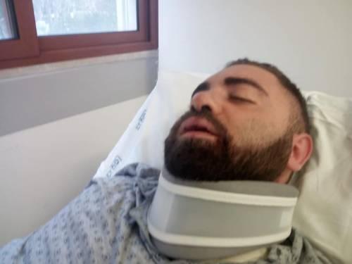 Taranto, le immagini dell'uomo in ospedale dopo l'aggressione 3