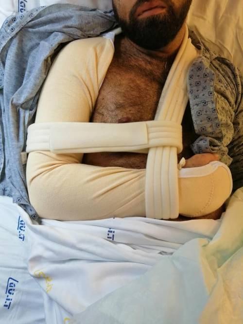Taranto, le immagini dell'uomo in ospedale dopo l'aggressione 2