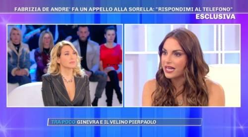 """Francesca De André: """"Mia sorella Fabrizia? Non le darò un'altra possibilità"""""""