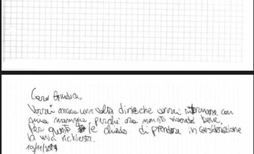 """Le lettere del bambino allontanato dalla mamma: """"voglio tornare a casa"""" 3"""