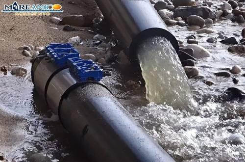 """Maltempo spezza tubo fogna a San Leone: finisce tutto in mare. """"Disastro ambientale"""""""