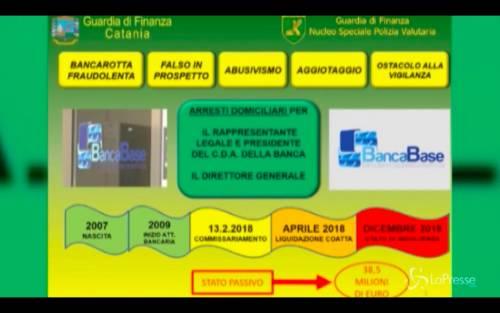 Catania, arrestati il presidente del Cda e il direttore generale di Banca Base
