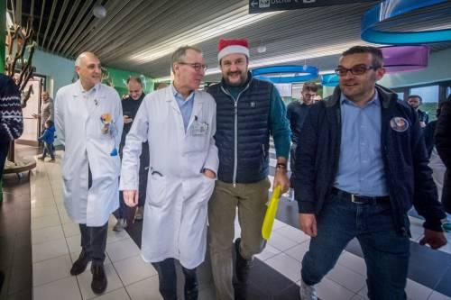 Matteo Salvini in visita all'ospedale dei bambini  3