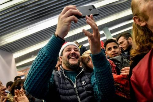 Matteo Salvini in visita all'ospedale dei bambini  5