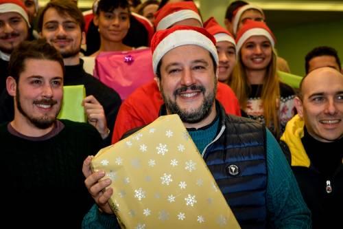 Matteo Salvini in visita all'ospedale dei bambini  7