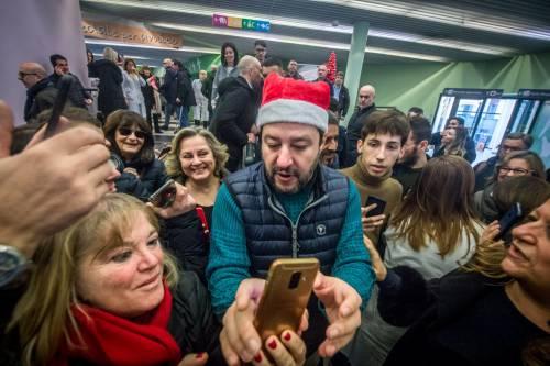 Matteo Salvini in visita all'ospedale dei bambini  8