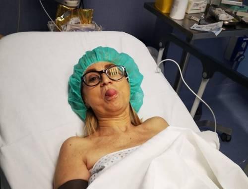 Luciana Littizzetto operata d'urgenza dopo l'incidente in strada