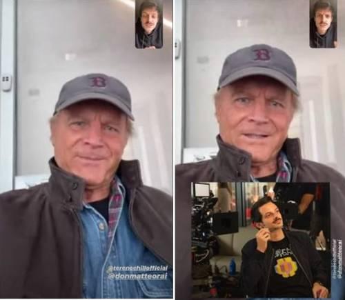 """Fabio Rovazzi su FaceTime con Terence Hill: """"Posso dire cosa faccio in Don Matteo?"""""""