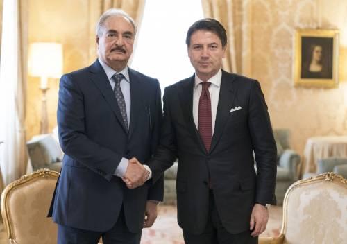 """Libia, Conte riceve Haftar. Ira di Serraj: """"Non vengo"""""""