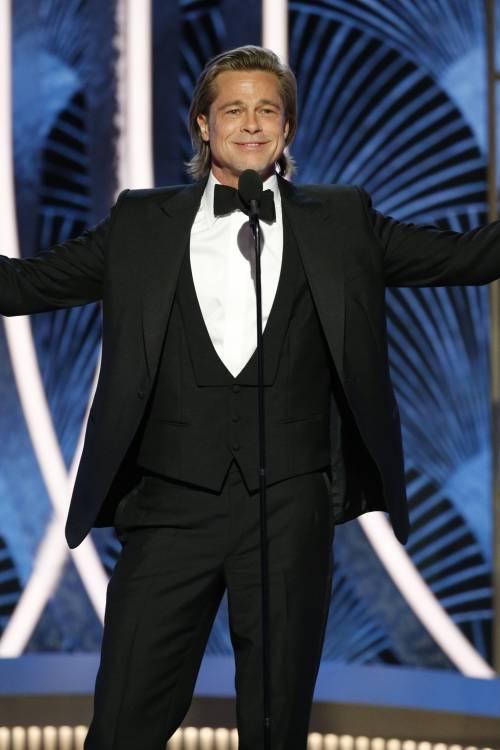 Brad Pitt e Jennifer Aniston ai Golden Globes 2020: foto 8