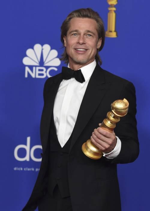 Brad Pitt e Jennifer Aniston ai Golden Globes 2020: foto 11