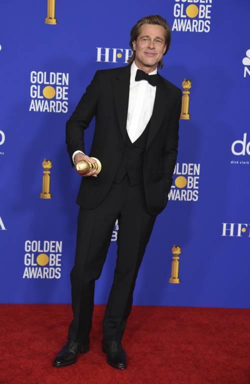 Brad Pitt e Jennifer Aniston ai Golden Globes 2020: foto 12