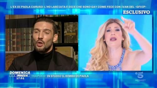 Domenica Live, scontro infuocato tra Paola Caruso e Moreno Merlo