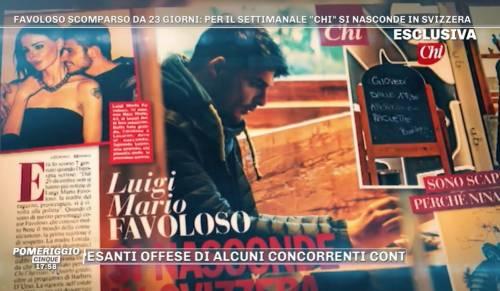 Luigi Mario Favoloso beccato in Svizzera, dopo la scomparsa