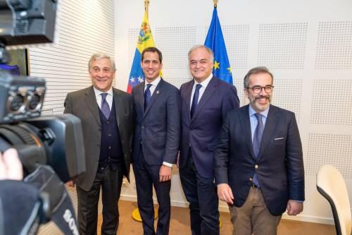 Tajani e Guaidó a Bruxelles 3