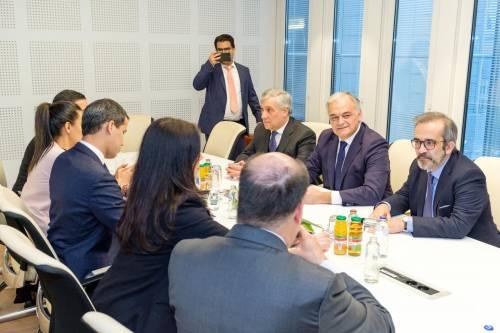 Tajani e Guaidó a Bruxelles 4
